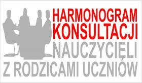 HARMONOGRAM KONSULTACJI